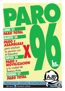 Afiche-Paro X 96 horas